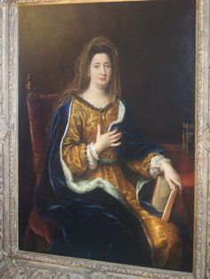 Granddaughter of Theodore Agrippe d'Aubigne. Her secret marriage but everyone knew at Versailles, to Louis XIV. Hers is a real Cindarella story: Madame Maintenon was a baby-sitter not of the legitimate kids, but the bastards. This, as well as the fact that she was known to rally to their support, did not win her too many fans at the Court. Princess Palatine, whose only son had to marry one of the illegitimate daughters of the king, simply called Madame Maintenon the Mouse Crap.