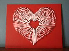string art heart | Heart string art.... For February. | String Art