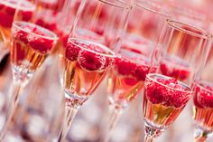 Jazz up a glass of champagne with our delicious champagne based cocktail recipes. Show off your cocktail making skills for New Years Eve parties and celebrations and give your guests a fruity surprise. Cocktails Champagne, New Year's Eve Cocktails, Holiday Cocktails, Pink Champagne, Champagne Toast, Champagne Party, Champagne Glasses, Champagne Birthday, Mimosa Champagne