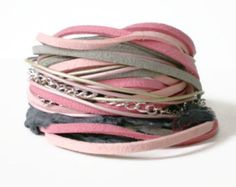 Items similar to wish upon a star leather wrap bracelet, star charm, boho chic, blue leather thong, rocker style, stacking bracelet on Etsy