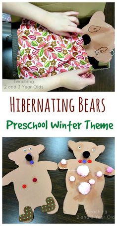 Hibernating Bears Activity for Preschoolers - Teaching 2 and 3 Year Olds