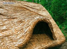 Steam Bent Shingles - also known as cedar shingle thatch roofs