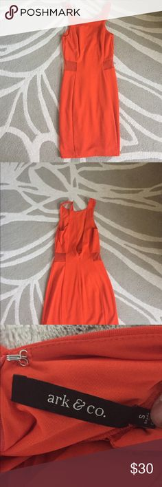 Nasty Gal bodycon dress From nasty gal! Beautiful orange bodycon dress that is above the knee. Has a lower back Nasty Gal Dresses Mini