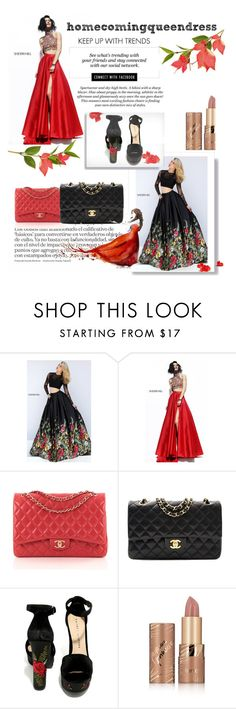 """#Homecomingqueendress"" by ellma94 ❤ liked on Polyvore featuring Sherri Hill, Erdem, Chanel, H&M, Chinese Laundry, tarte and homecomingqueendress"