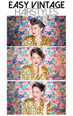 Easy vintage hairstyles that anyone can recreate!