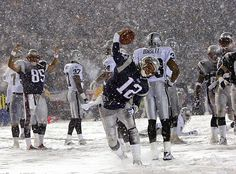 Patriots Snow Bowl ~ Love football in the snow!