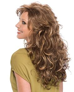 Savannah Synthetic Wig by Tony of Beverly Curly Hair With Bangs, Long Hair Cuts, Short Curly Hair, Hairstyles With Bangs, Curly Hair Styles, Cool Hairstyles, Wedding Hairstyles, Wispy Bangs, Layered Hair
