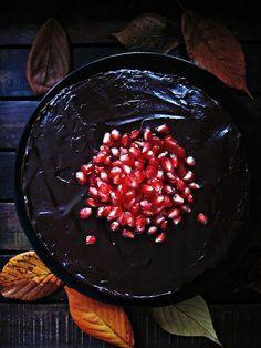 Schokoladen-Granatapfel-Torte