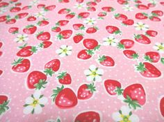 Hey, I found this really awesome Etsy listing at https://www.etsy.com/listing/267317222/japanese-fabric-yuwa-strawberry-flower