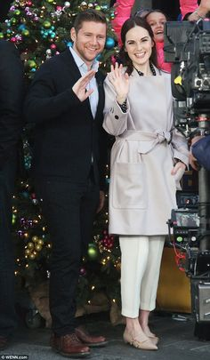 Say cheese!Michelle Dockery and Allen Leech, two of Downton Abbey's main stars, were blazing the promotional trail for the last time as they appeared on Good Morning America on Monday