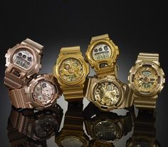 """Casio G-Shock – """"Gold"""" collection (Fall 2014)"""