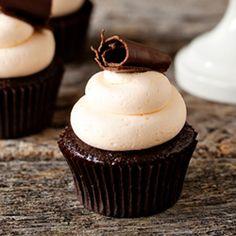 rand Marnier Cupcakes- Chocolate cupcakes filled with Grand Marnier ganache and topped with Grand Marnier Buttercream