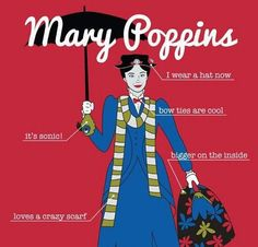 Mary Poppins is a Time Lord. Obviously. Why is this not an episode?