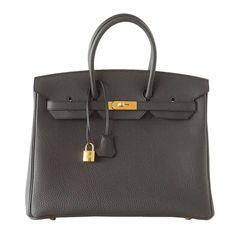 #Hermes #Birkin #Bag Plomb Off Black Togo Gold Hardware