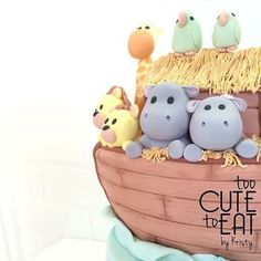 Noah's Ark Cake Topper - close up