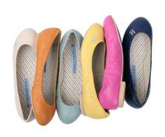 The colors of spring- Le Bunny Bleu flats   $55