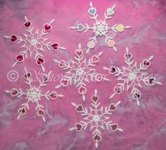 #Free Crochet Snowflake Pattern...this is beautiful and so different!  Like an embroidery!!