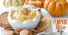Easy Pumpkin Pie Dip Recipe (Just 3 ingredients) could be lightened up easily.