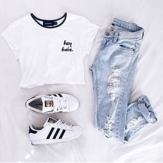 Image about fashion in Moda - outfits👚 by carmen🦊 Cute Teen Outfits, Teenage Girl Outfits, Cute Outfits For School, Teen Fashion Outfits, Tomboy Fashion, Tween Fashion, Cute Summer Outfits, Mode Outfits, Outfits For Teens