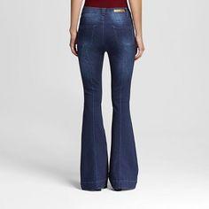 Women's High Rise Flare Jeans Dark Wash Sasha 11 - Dollhouse (Juniors'), Blue