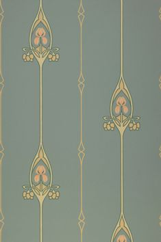 The classics are in! This enchanting Art Nouveau pattern which combines graphic and floral elements in the most elegant manner benefits from the striking contrast between the pattern colours of beige, ivory, pale pink, and fir green and the mint-turquoise background.  #interiordesign #wallpaper #turquoisewallpaper Pale Pink Wallpaper, Turquoise Wallpaper, Turquoise Walls, Classic Wallpaper, Turquoise Pattern, Turquoise Background, Wallpaper Art Deco, Wallpaper Samples, Pattern Wallpaper
