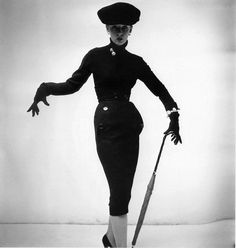 Wearing Christian Dior    Best fashion pose ever.    Photographed by Henry Clarke.