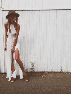 stone cold fox white maxi dress