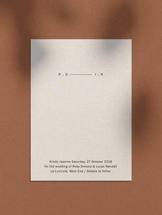 modern minimal simple wedding invitations stationery