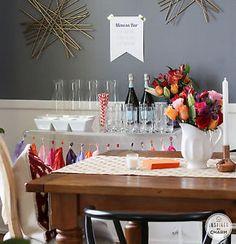 Mimosa Bar and Birthday Celebration via InspiredbyCharm .com