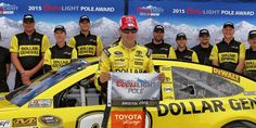 Congrats to @mattkenseth & @JoeGibbsRacing for winning the pole for Sunday's #NASCAR race at @BMSupdates!