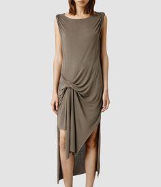 All Saints Riviera Vi Dress (Mud)