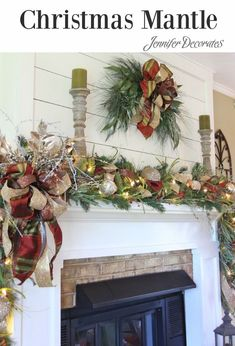 how to decorate your mantle for christmas, christmas decorations, fireplaces mantels, how to, seasonal holiday decor Victorian Christmas, Rustic Christmas, Christmas Home, Christmas Holidays, Christmas Crafts, Christmas Villages, Pink Christmas, Christmas Trees, Vintage Christmas