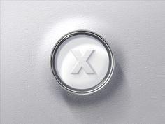 Sleek chrome Xbox button
