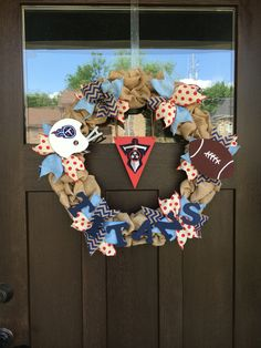 Tennessee Titans Burlap Wreath