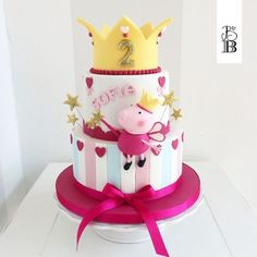 Peppa Pig eppa This halloween will be our favorite pre-school social gathering themes or templates, Peppa Pig Birthday Cake, Birthday Cake Girls, Birthday Parties, 3rd Birthday, Picnic Parties, Bolo Fake Peppa, Tortas Peppa Pig, Peppa Pig Cakes, Peppa Pip