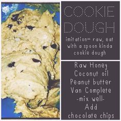 Cookie dough recipe made with Juice Plus Complete protein shake mix which packs the punch of 25 whole foods with plant based nutrition; 13g protein, 8g fibre, all natural sweetener, low glycemic, non-dairy, 100% vegan, no artificial flavouring, coloring or preservatives.  Available at www.GottaGetHealthy.com