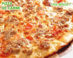 pizza italiana de carne Calzone, Hawaiian Pizza, Italian Recipes, Cheese, Baking, Food, Steak Pizza, Hamburgers, Lunches