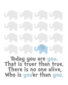Elephant Nursery Art Baby Boy Nursery Art for by SweetLittleBarn