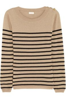 Collette by Collette Dinnigan does a striped knit sweater - nautical.