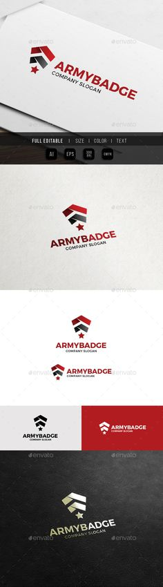 Army Badge - Military Soldier Logo Template Vector EPS, AI. Download here: http://graphicriver.net/item/army-badge-military-soldier-logo/12319167?ref=ksioks