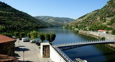 Ponto de confluência do Rio Pinhão com o Rio Douro, no Município de Alijó