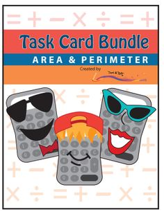 This bundle includes three sets of math task cards that highlight differentiated perimeter and area practice. The three sets are: Perimeter Task Cards, Area Task Cards, and  Advanced Perimeter & Area Task Cards. Grades 3-5. $