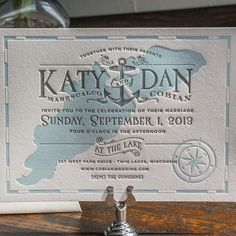 Mariner | Lucky Luxe Couture Correspondence | Letterpress Wedding Stationery.