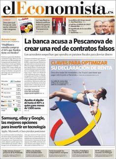 Los Titulares y Portadas de Noticias Destacadas Españolas del 6 de Abril de 2013 del Diario El Economista ¿Que le parecio esta Portada de este Diario Español?