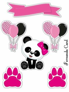 Party Decoracion Diy Ideas Free Printables 65 Ideas For 2019 Panda Themed Party, Panda Birthday Party, Panda Party, Birthday Party Decorations, Party Themes, Party Ideas, Panda Kawaii, Bolo Panda, Panda Decorations