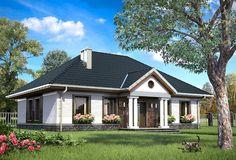 Projekt domu parterowego o pow. 112,7 m2 z dachem kopertowym, z tarasem, sprawdź! Roof Design, Home Fashion, Gazebo, Architecture Design, House Plans, Sweet Home, Floor Plans, Exterior, Outdoor Structures
