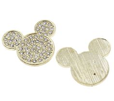 Rhinestone Crystal Bling Mouse Flatback Metal by simplysassysource