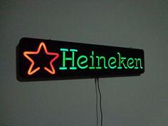 70cm heineken ñ neon letreiro luminoso