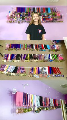 Video of a Simple and inexpensive sports medals display.