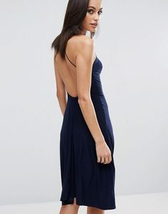 Buy Navy Club l Midi dress for woman at best price. Compare Dresses prices from online stores like Asos - Wossel Global Satin Midi Dress, Bodycon Dress, Navy Dress, Latest Fashion Clothes, Fashion Online, Dressy Dresses, Women's Dresses, Fashion Company, Online Shopping Clothes